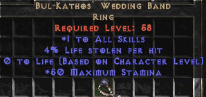 Bul Kathos' Wedding Band   3 4% LL   Diablo 2 Items Store   Buy D2